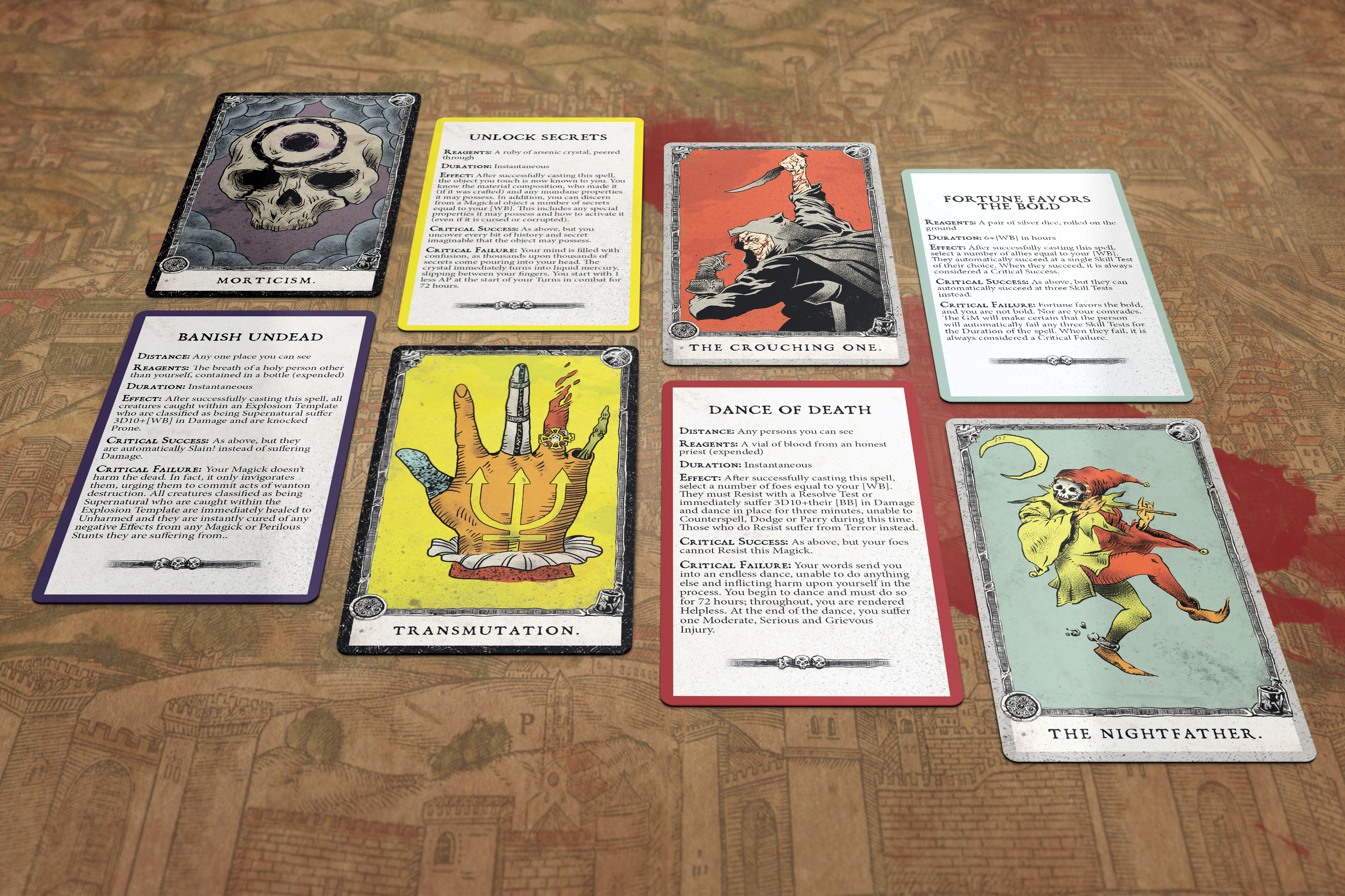 Coming Soon To Zweihänder… Magick Cards! – Grim & Perilous